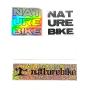 Kit 4 Stickers Naturebike